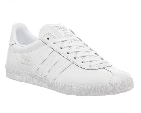 Adidas Gazalle Mono Suede by Mens Adidas Gazelle Og White Mono Silver W Trainers Shoes
