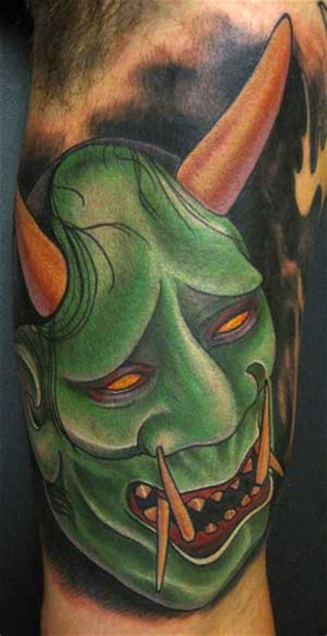 green hannya mask tattoo japanese mask tattoos tattoo pictures online