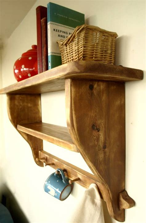 Vintage Kitchen Shelf by Vintage Country Kitchen Shelf With Wooden Peg Rail By