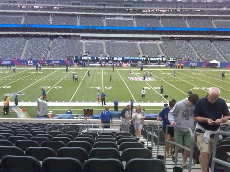 section 140 metlife stadium metlife stadium section 140 giants jets rateyourseats com