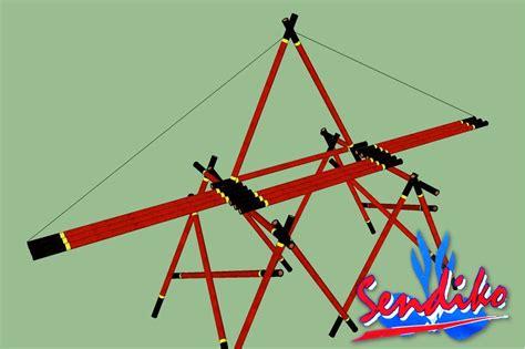 desain gapura pramuka gambar ikatan tali temali sdit al fahmi jembatan kaki