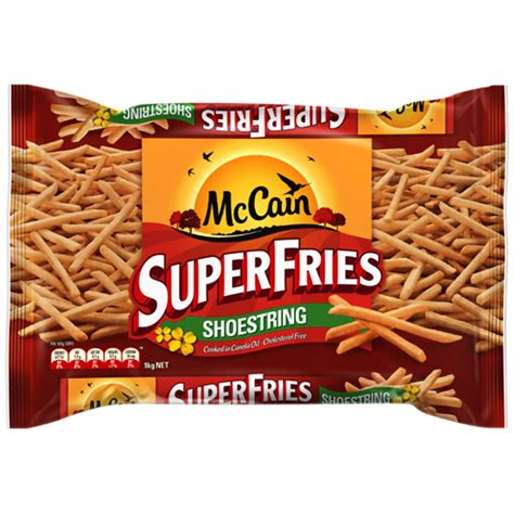 Fries Shoestring 1kg buy mccain superfries fries shoestring 1kg at