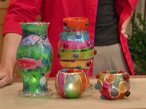Decoupage Tissue Paper Glass - decoupage votive candleholders diy