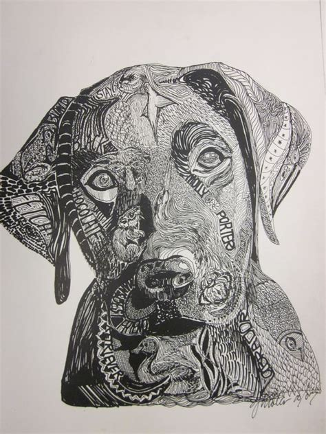 zentangle pattern drawing zentangle dogs google search zentangle pinterest
