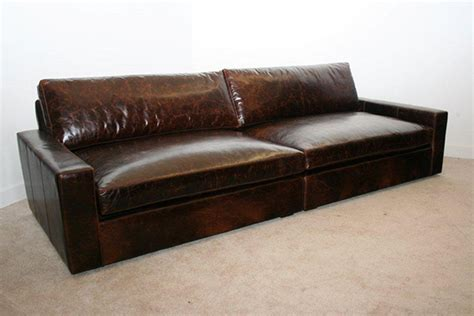 extra deep leather couch extra deep leather sofa gentlemint