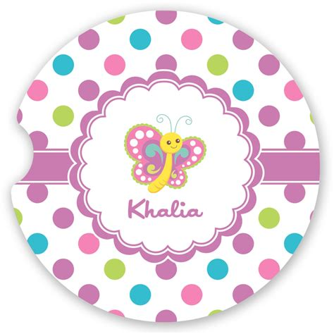 Playette 2 In 1 Support Butterfly Dot polka dot butterfly sandstone car coaster single personalized youcustomizeit