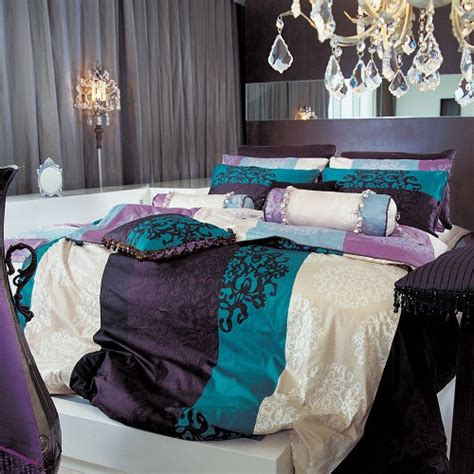 damask duvet covers turquoise purple damask duvet