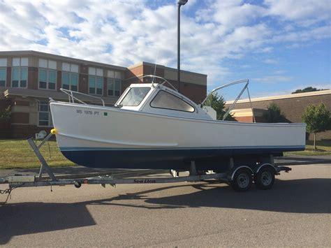 fiberglass lobster boats for sale 25 bhm flye point fiberglass downeast diesel launch