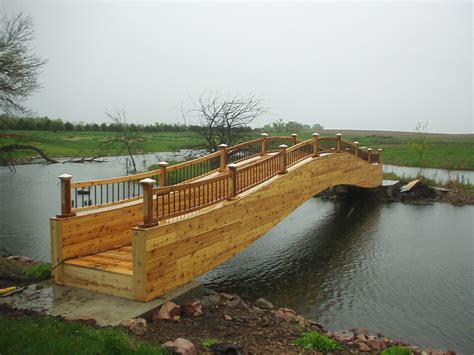 landscape bridge garden bridges 4 52ft long elegant wooden landscape