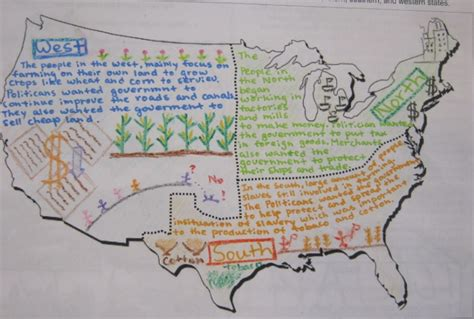 sectionalism map mr gray history student work sectionalism posters