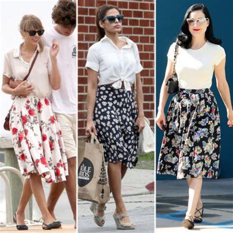 skirt retro 50s style midi skirt floral skirt vintage