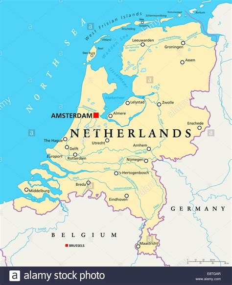 netherlands map ns netherlands political map with capital amsterdam national