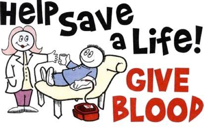 Blood Drive Giveaways - upcoming blood drive