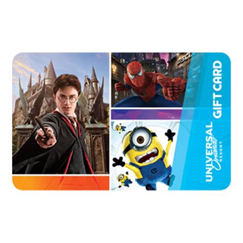 Harry Potter Gift Card - your wdw store universal collectible gift card harry potter spider man and minions