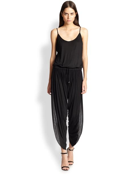 knitted jumpsuit haute hippie knit jumpsuit in black lyst