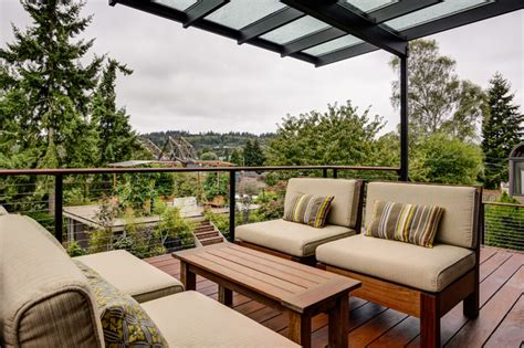 Houzz Outdoor Rooms - ballard outdoor living space contemporary deck seattle by sawhorse design amp build