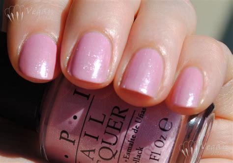 opi gel polish light pink april 2012 vegan claws