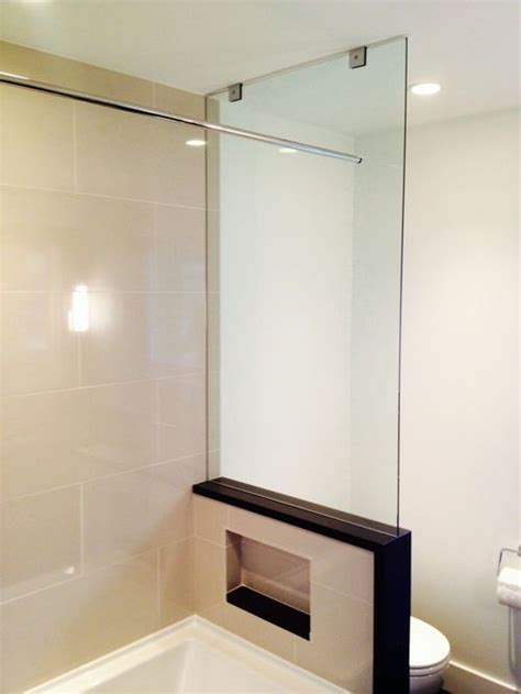 bathtub glass panel tub end wall glass panel showers