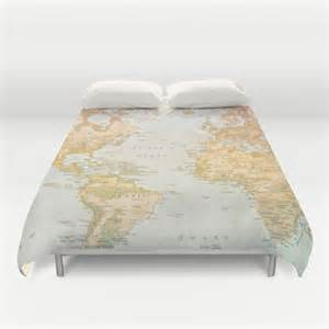 World Map Bedding by World Map Duvet Cover Bedding Bed Sheets Pastel Color