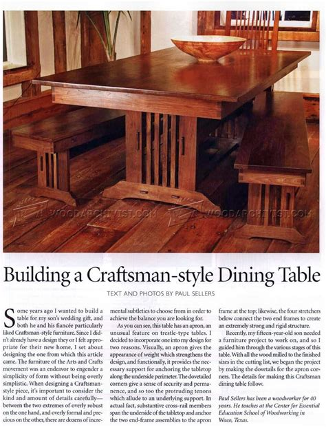 Craftsman Style Dining Room Table 1919 Craftsman Style Dining Table Plans Woodarchivist