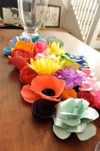 paper flowers wedding centerpiece paper flowers wedding centerpiece table decor colorful