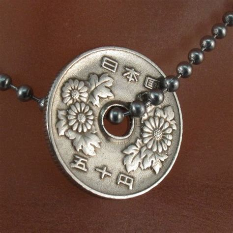 japanese necklace coin jewelry japanese coin necklace japan