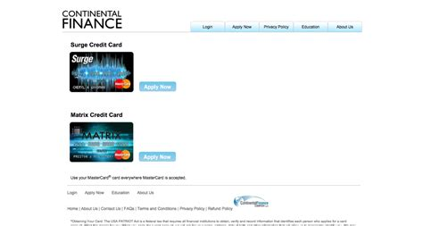 matrix credit card how to apply for a continental finance matrix credit card