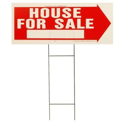 hy ko 18 in x 24 in plastic open house sign with lawn