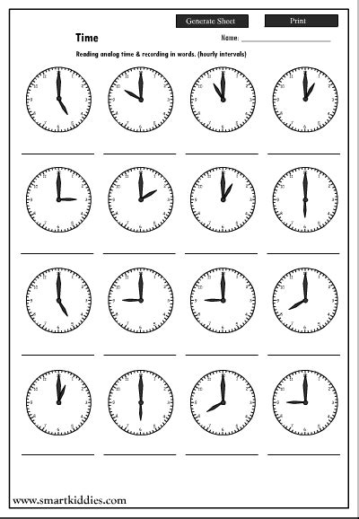 printable worksheets clock 18 best images of learning time worksheets teaching