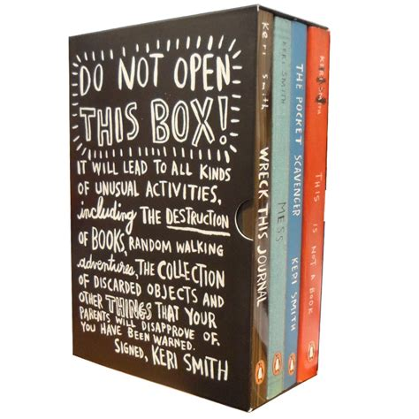 Pdf Wreck This Journal 4 Set by Do Not Open This Box Collection Smith 4 Books Set