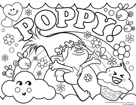 coloring book pages to print print trolls poppy coloring pages color time pinterest