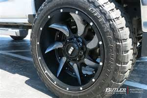 chevrolet silverado 2500hd custom wheels grid road gd1
