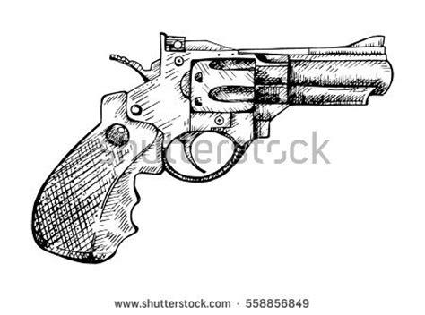 tattoo gun labeled revolver vector engraving vintage illustration firearm