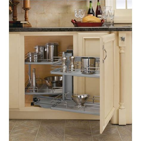 Kitchen Cabinet Blind Corner Solutions Premiere Blind Corner Kitchen Cabinet System By Rev A Shelf