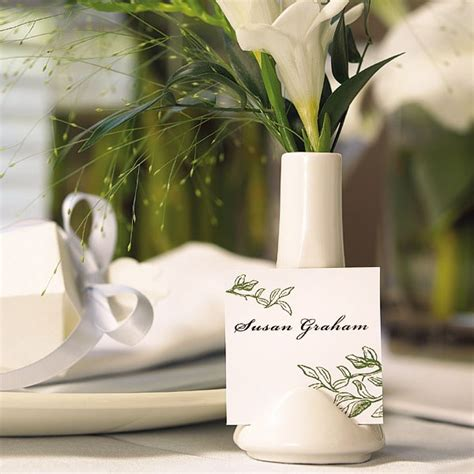 Vase Place Card Holders by Small Vase Place Card Holder White Confetti Co Uk