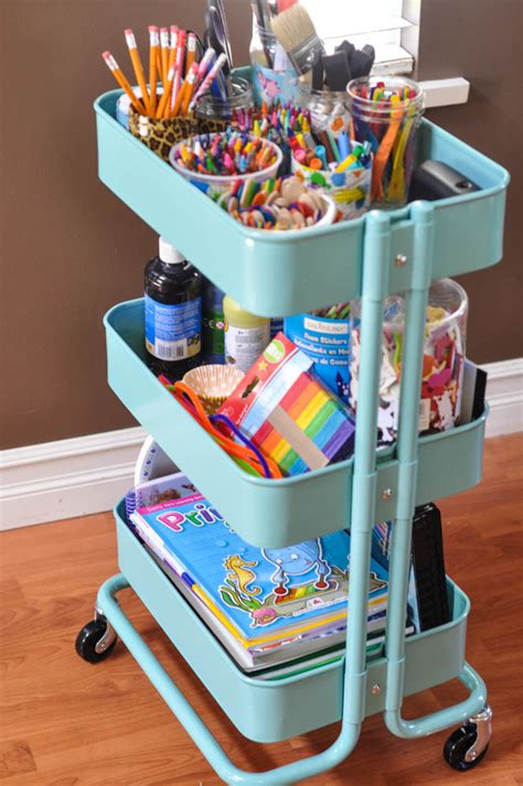 Ikea Craft Cart | the art cart suburble