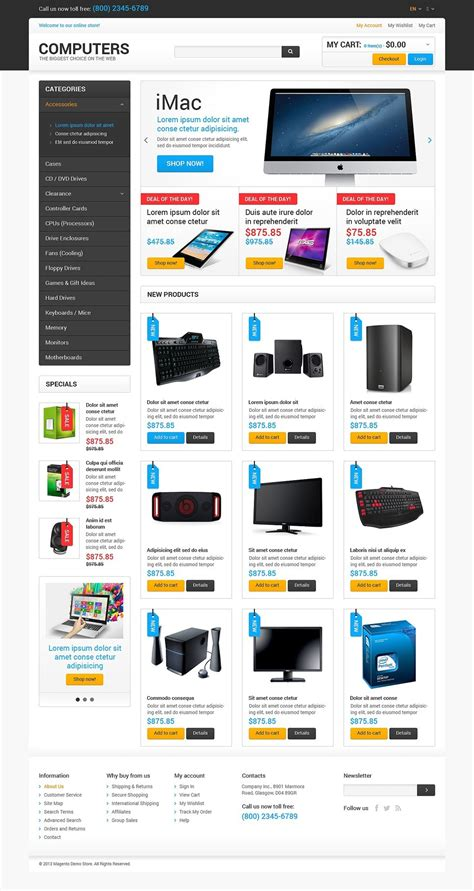 best computers on the net magento template 47677