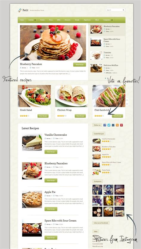 layout no wordpress 1000 images about food wordpress themes website