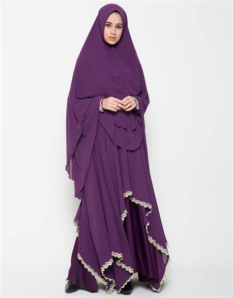 Busana Muslim Lebaran model gamis lebaran terbaru 2018 baju muslim modern