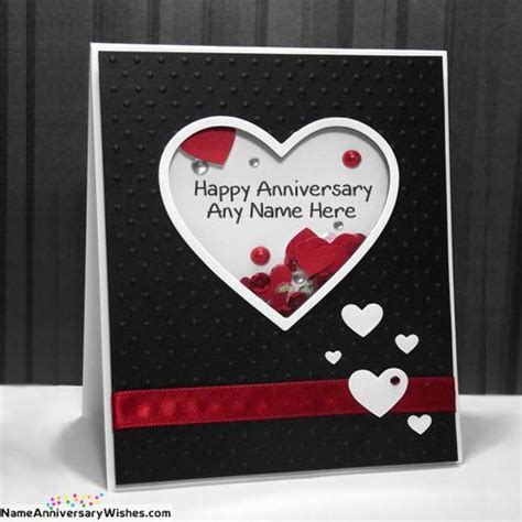 Anniversary Card For With Name