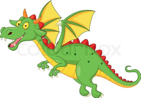 Simple Home Plans Free by Vector Illustration Of Cute Dragon Cartoon Flying Vector