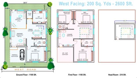 west facing site house plan house design ideas