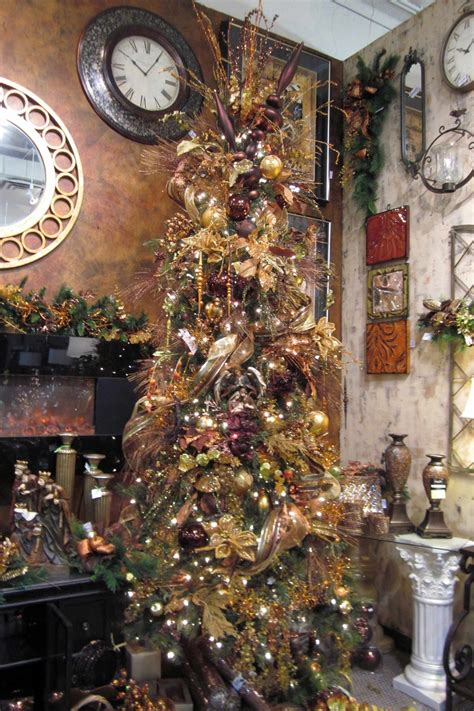 bronze and gold christmas tree christmas pinterest