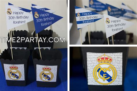 real madrid soccer themed decorations