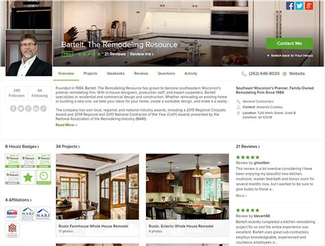 houzz customer service number bartelt best of houzz 2016 bartelt the remodeling resource