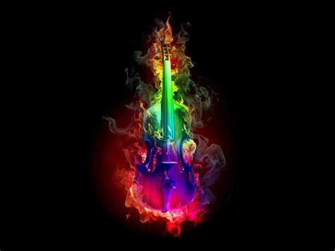 colorful violin wallpaper burning violin rainbow colors by kat tunkamemary on