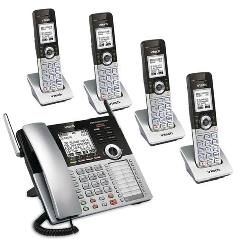 phone system for small business 4 line small business phone system mobility bundle 1 sbs mb1 vtech 174 cordless phones