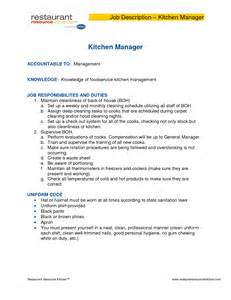 Kitchen Manager Description by Kitchen Manager Description Salary Manager