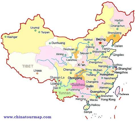 map of china cities capital china map
