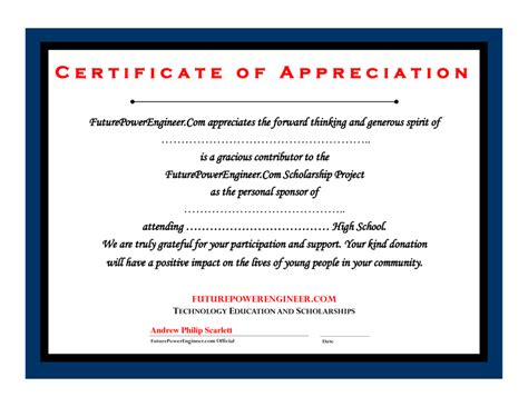 certificate of appreciation for donation template donation certificate template certificate templates